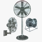Image - Industrial Man cooler available in diffrent model like  wall mounting, pedestal, tubular - supplier & distributor, Shital Electric & Co, India